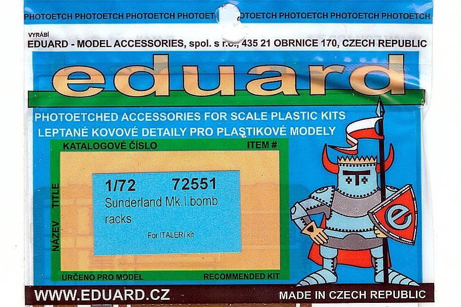 Eduard-72551-Short-Sunderland-MkI-Bomb-Rack-1 Eduard Detailsets für die Short Sunderland in 1:72 von Italeri