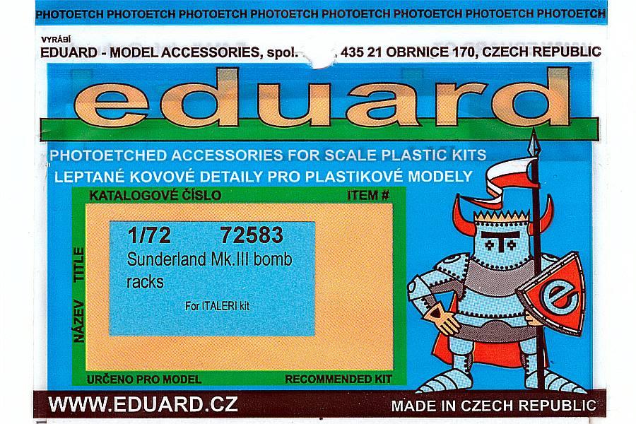 Eduard-72583-Sunderland-MkIII-Bomb-Rack Eduard Detailsets für die Short Sunderland in 1:72 von Italeri