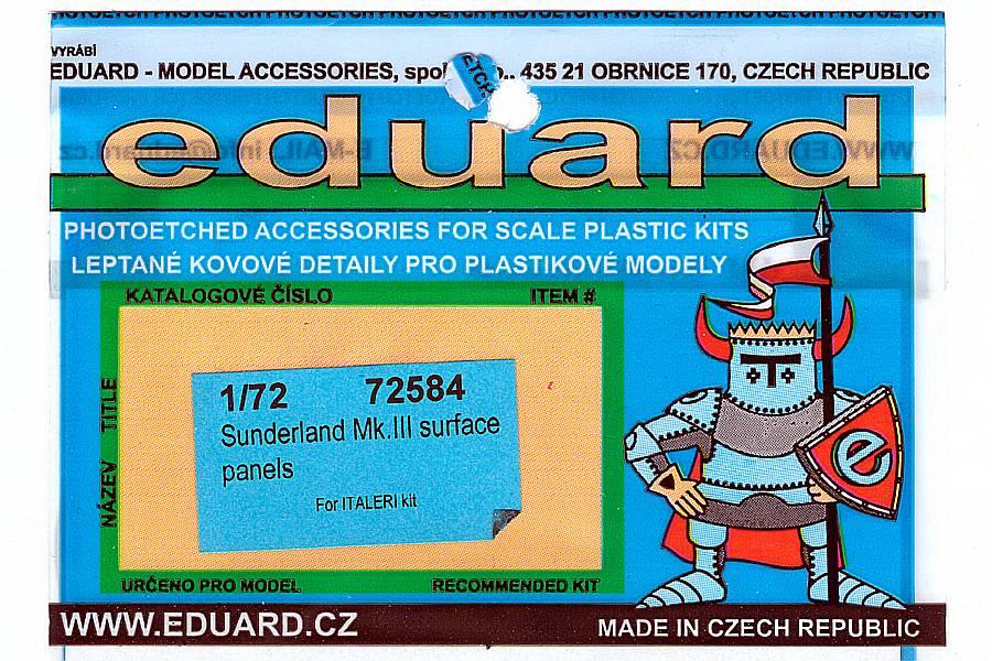 Eduard-72584-Short-Sunderland-MkIII-Surface-Panels-1 Eduard Detailsets für die Short Sunderland in 1:72 von Italeri