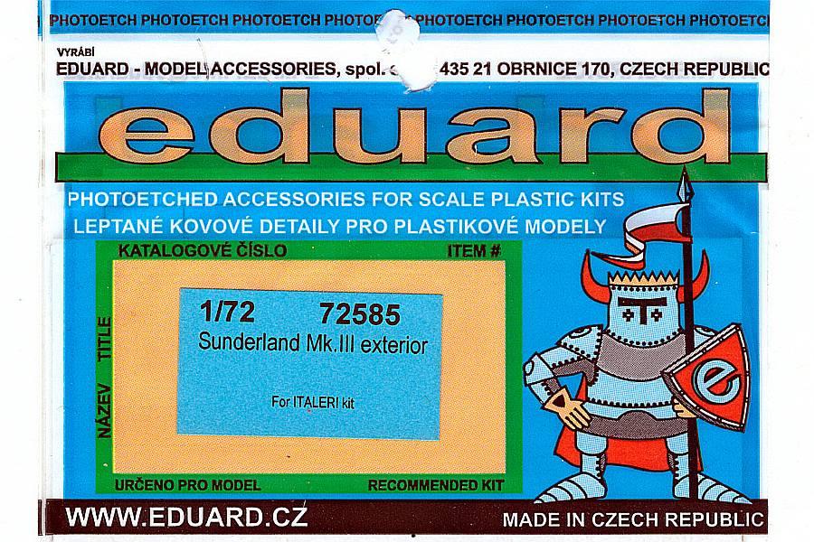 Eduard-72585-Short-Sunderland-MkIII-Exterior-1 Eduard Detailsets für die Short Sunderland in 1:72 von Italeri