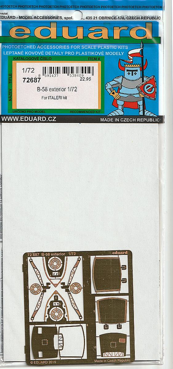 Eduard-72687-B-58-Exterior-1 Eduard-Detailsets für die B-58 von Italeri