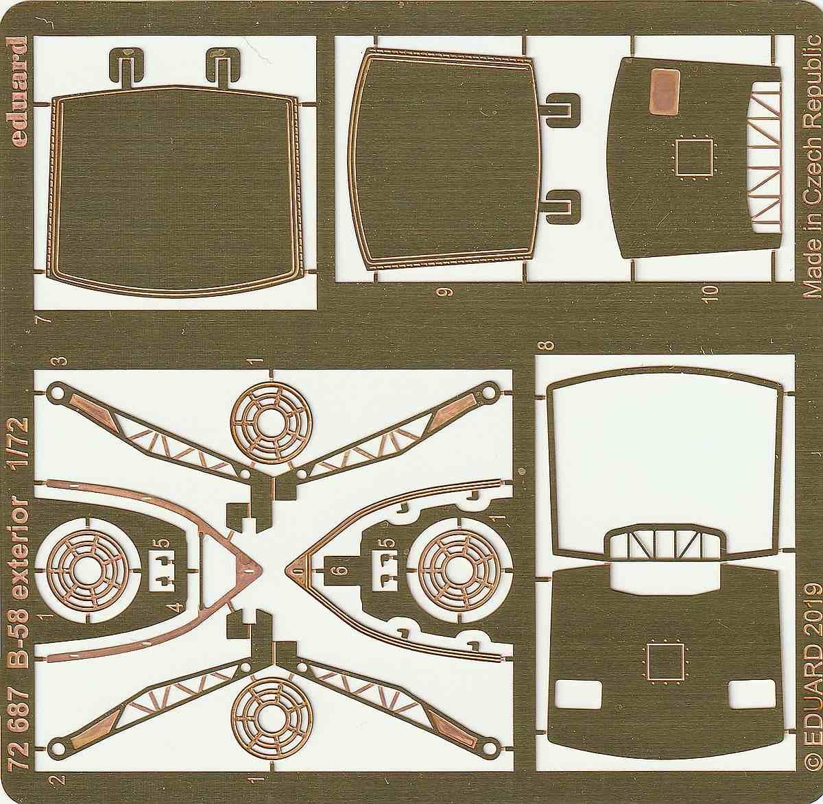 Eduard-72687-B-58-Exterior-2 Eduard-Detailsets für die B-58 von Italeri