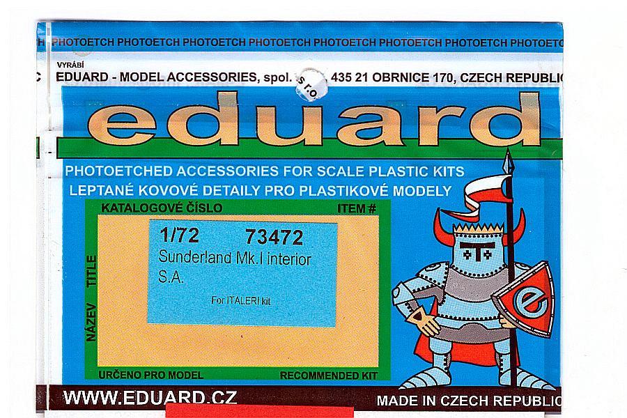 Eduard-73472-Short-Sunderland-Mk-I-Interior-1 Eduard Detailsets für die Short Sunderland in 1:72 von Italeri