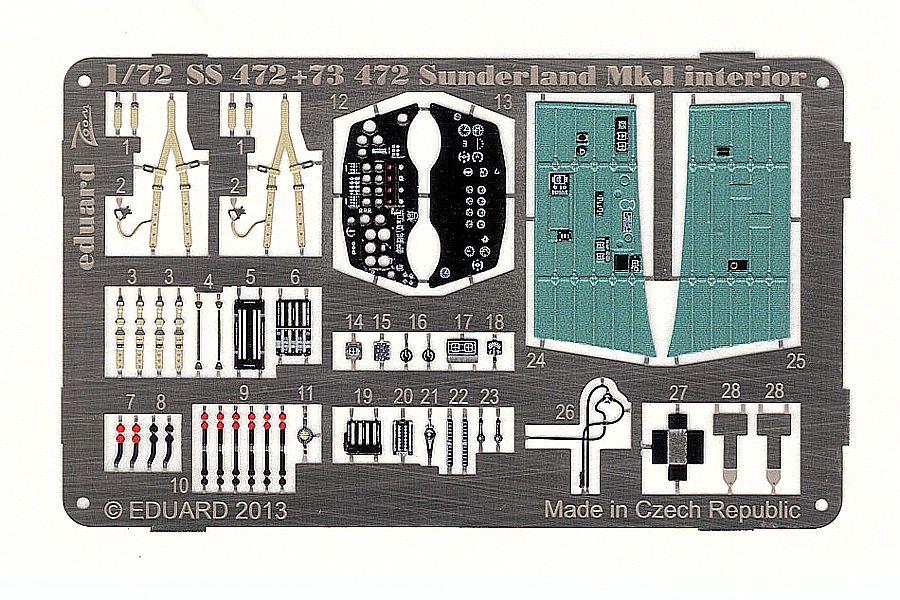 Eduard-73472-Short-Sunderland-Mk-I-Interior-4 Eduard Detailsets für die Short Sunderland in 1:72 von Italeri