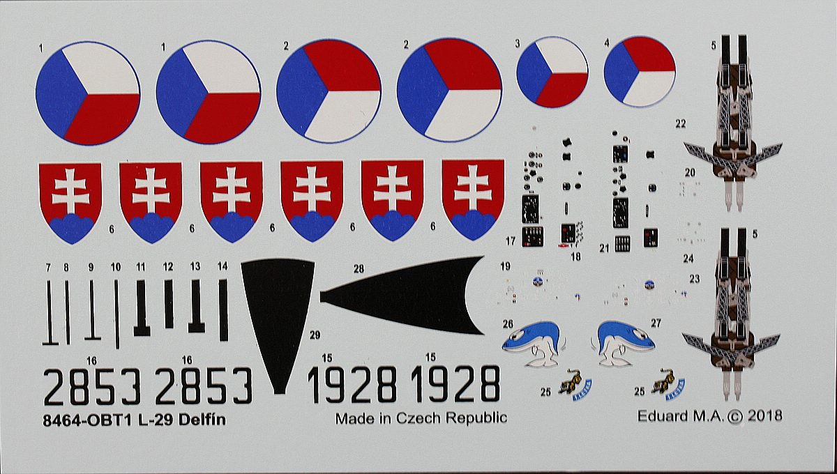 Eduard-8464-L-29-Weekend-Decals-1 L-29 Delfin in 1:48 von Eduard als WEEKEND-Edition #8464