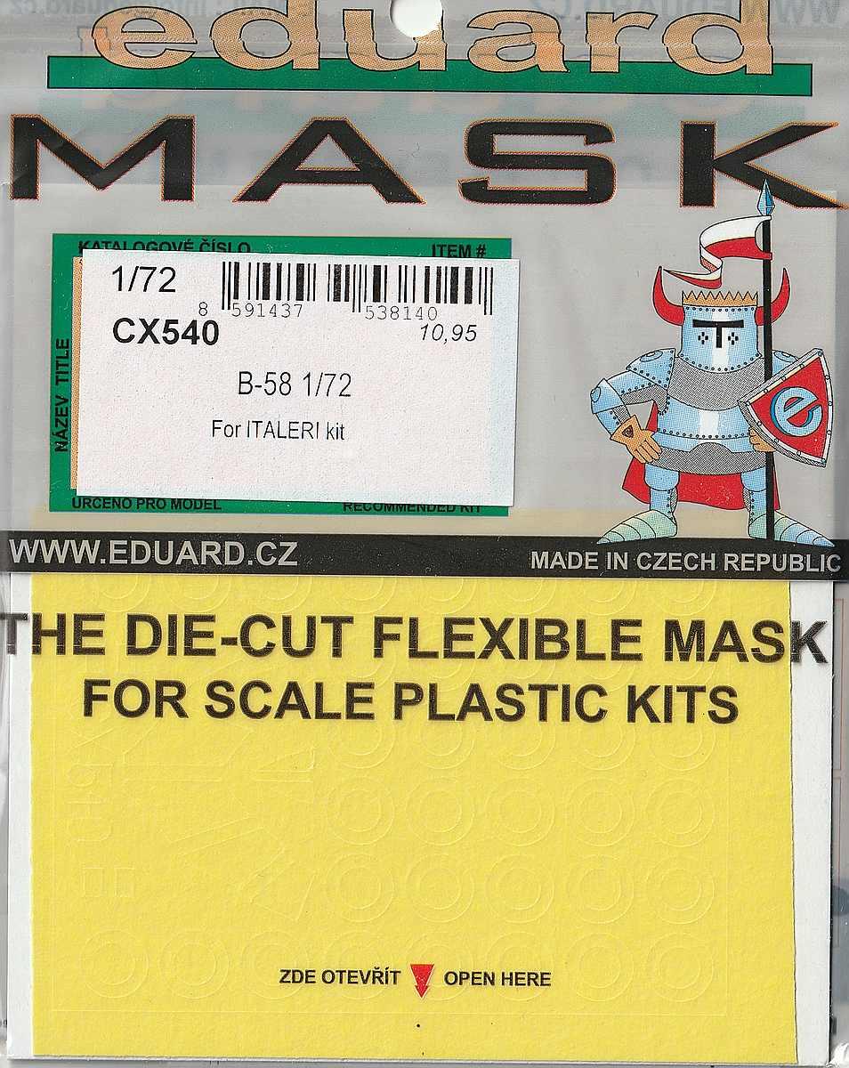 Eduard-CX-540-B-58-Masken Eduard-Detailsets für die B-58 von Italeri
