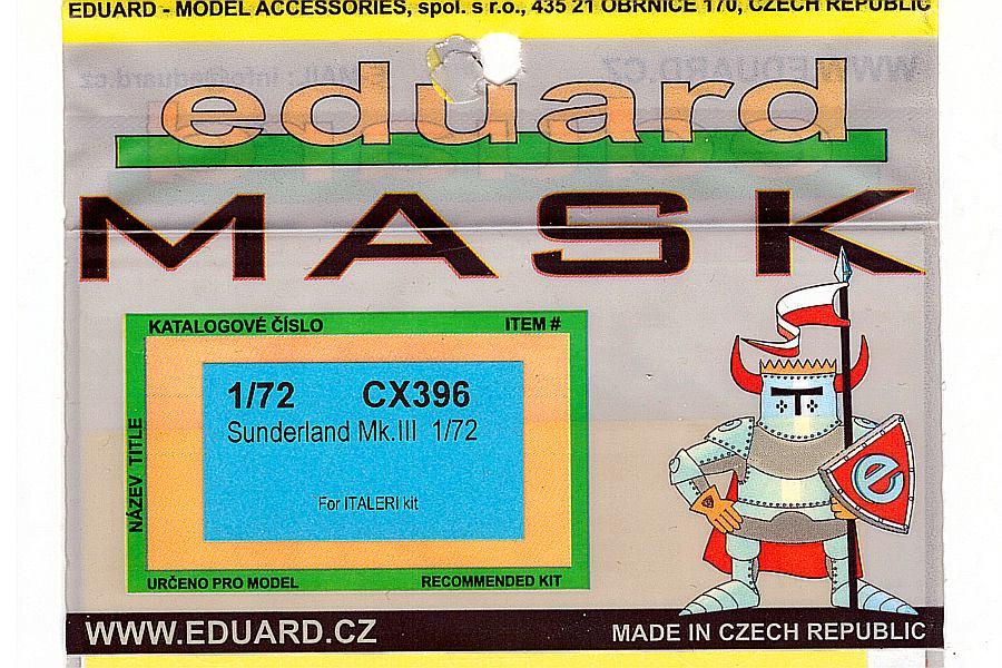 Eduard-CX396-Short-Sunderland-MkIII-Masks-1 Eduard Detailsets für die Short Sunderland in 1:72 von Italeri