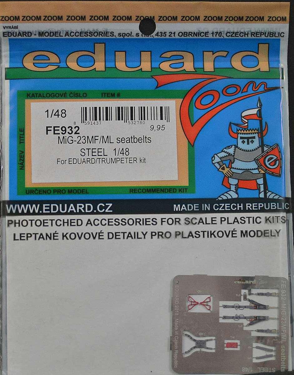 Eduard-FE-932-MiG-23-MF-seatbelts-STEEL-1 Detailsets für die MiG-23 MF / ML in 1:48 von Eduard