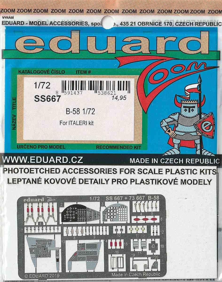 Eduard-SS-667-B-58-ZOOM-1 Eduard-Detailsets für die B-58 von Italeri
