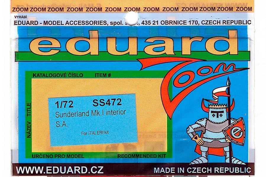 Eduard-SS472-Short-Sunderland-Mk-I-ZOOM-1 Eduard Detailsets für die Short Sunderland in 1:72 von Italeri