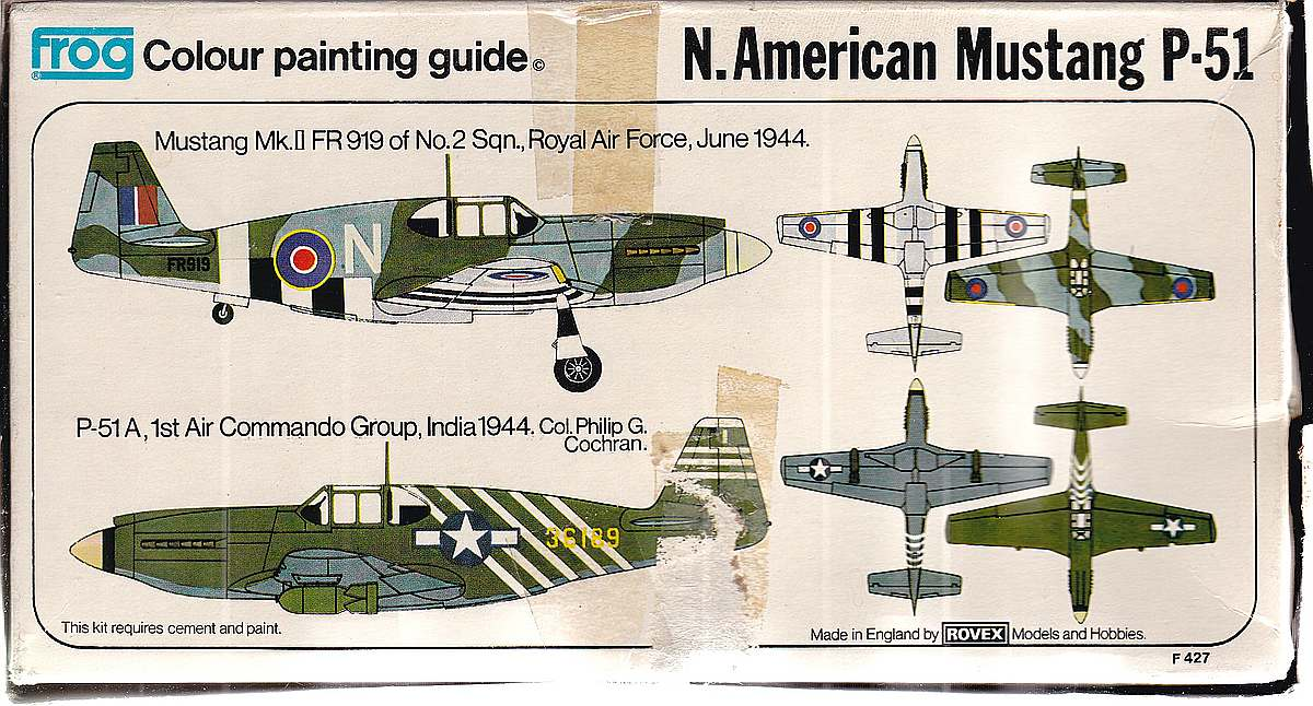 FROG-F.427-Mustang-P-51A-Mk-22 Kit-Archäologie: Mustang P-51A Mk.2 in 1:72 von Frog F.427