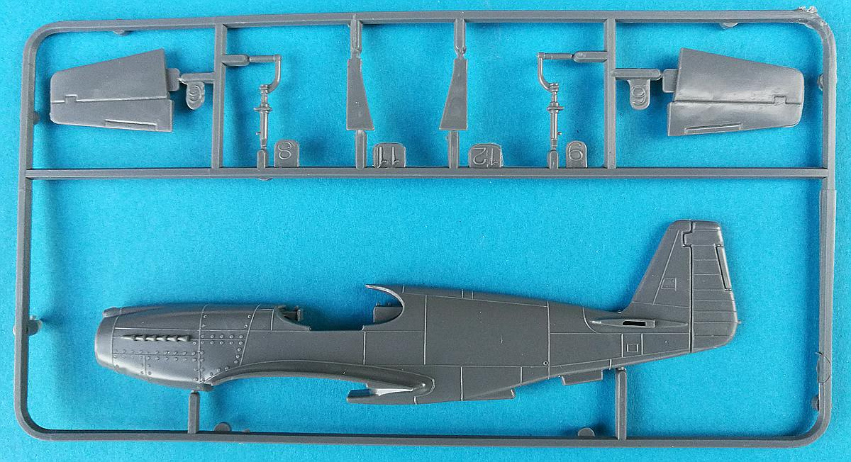FROG-F.427-Mustang-P-51A-Mk-9 Kit-Archäologie: Mustang P-51A Mk.2 in 1:72 von Frog F.427