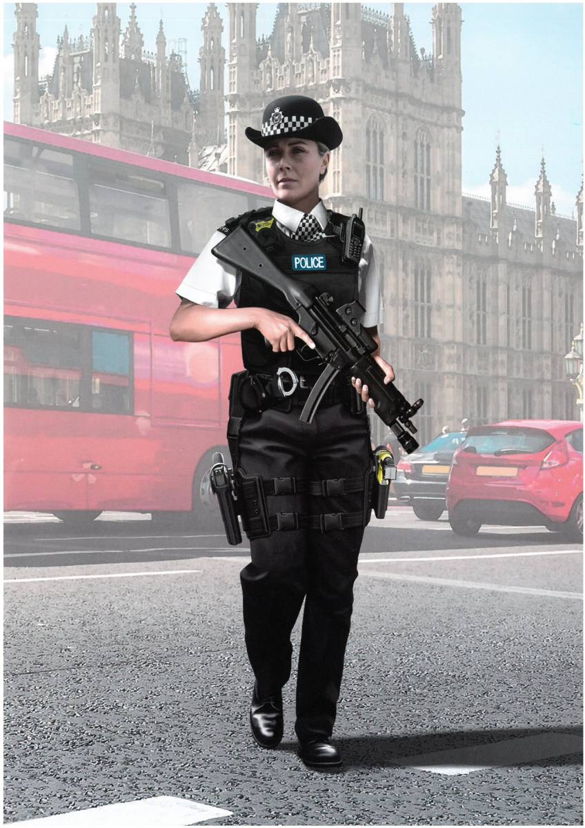 ICM-16009-BRITISH-POLICE-FEMALE-OFFICER-12 BRITISH POLICE FEMALE OFFICER in 1:16 von ICM # 16009