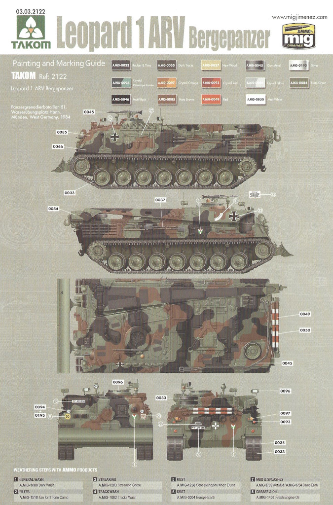 Markierung01 Bergepanzer 2 Standard 1:35 Takom (#2122)