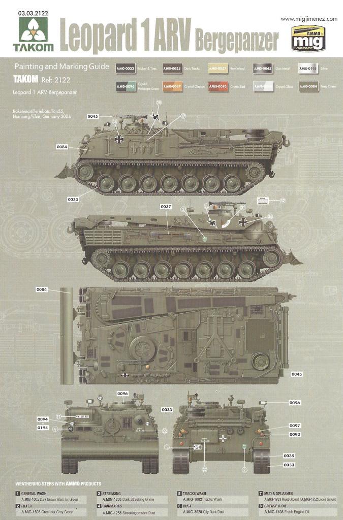 Markierung02 Bergepanzer 2 Standard 1:35 Takom (#2122)