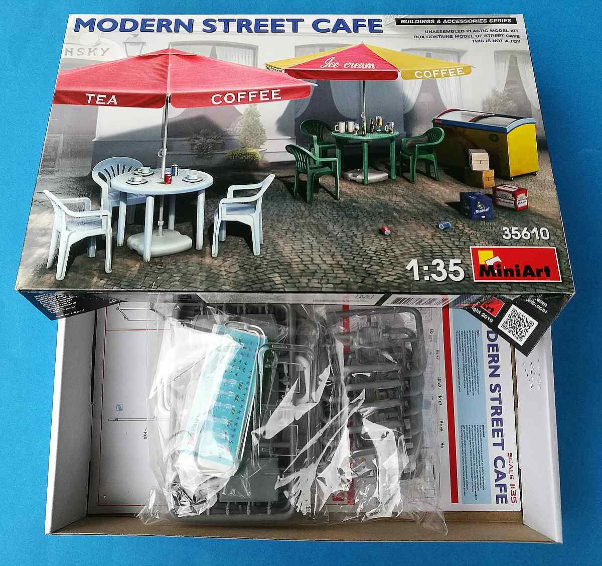 MiniArt-35610-Modern-Street-cafe-5 Modern Street Cafe in 1:35 von MiniArt # 35610