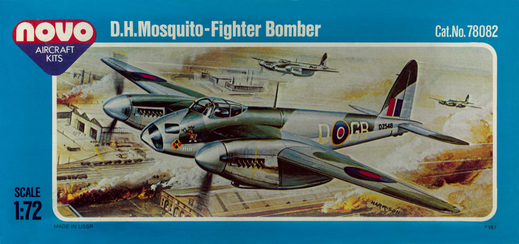 Novo-78082-Mosquito Kit-Archäologie: DeHavilland Mosquito in 1:72 von FROG F.187