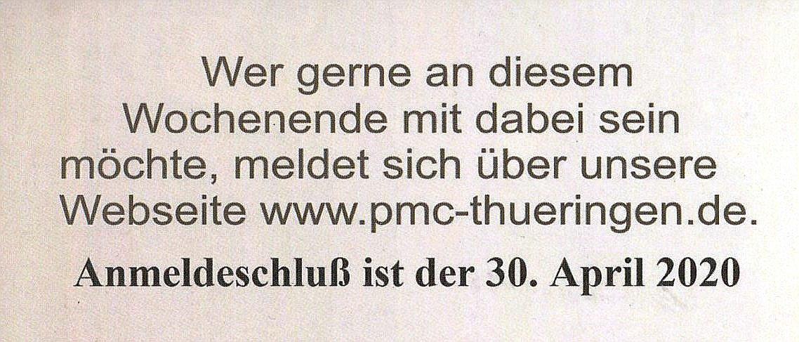 PMC-Thüringen-2020-3 Modellbauausstellung des PMC Thüringen 16./17. Mai 2020