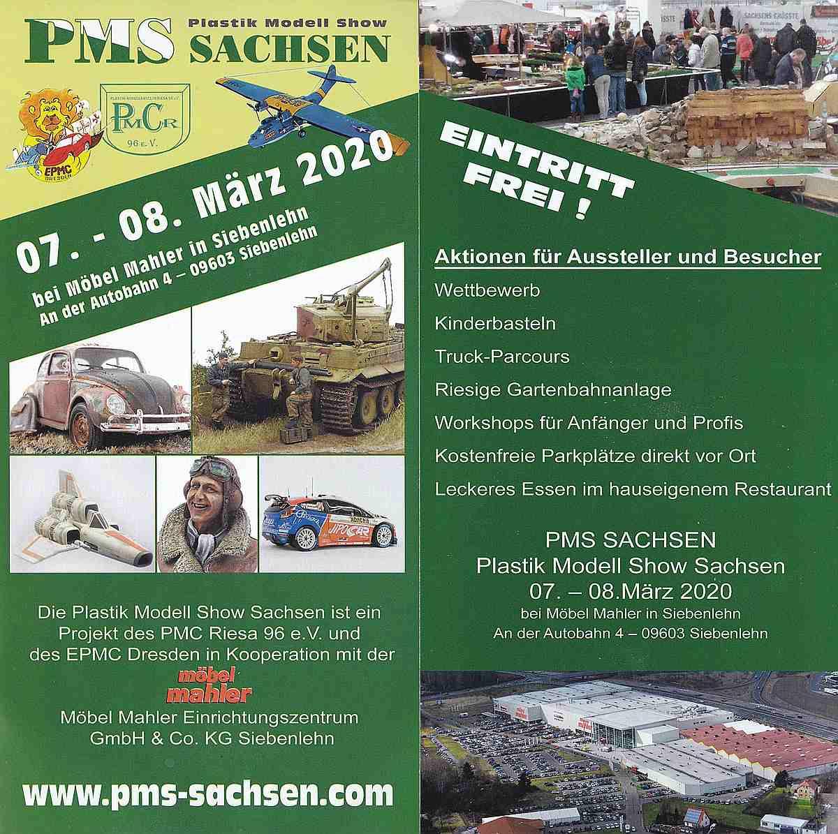 PMS-Sachsen-2020-2 Nicht vergessen: Plastik Modell Show Sachsen am 7./8. März