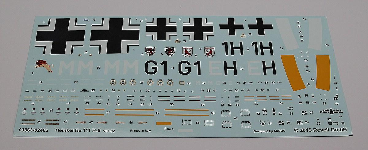 Revell-03863-He-111-H-6-5 Heinkel He 111 H-6 in 1:48 von Revell # 03863