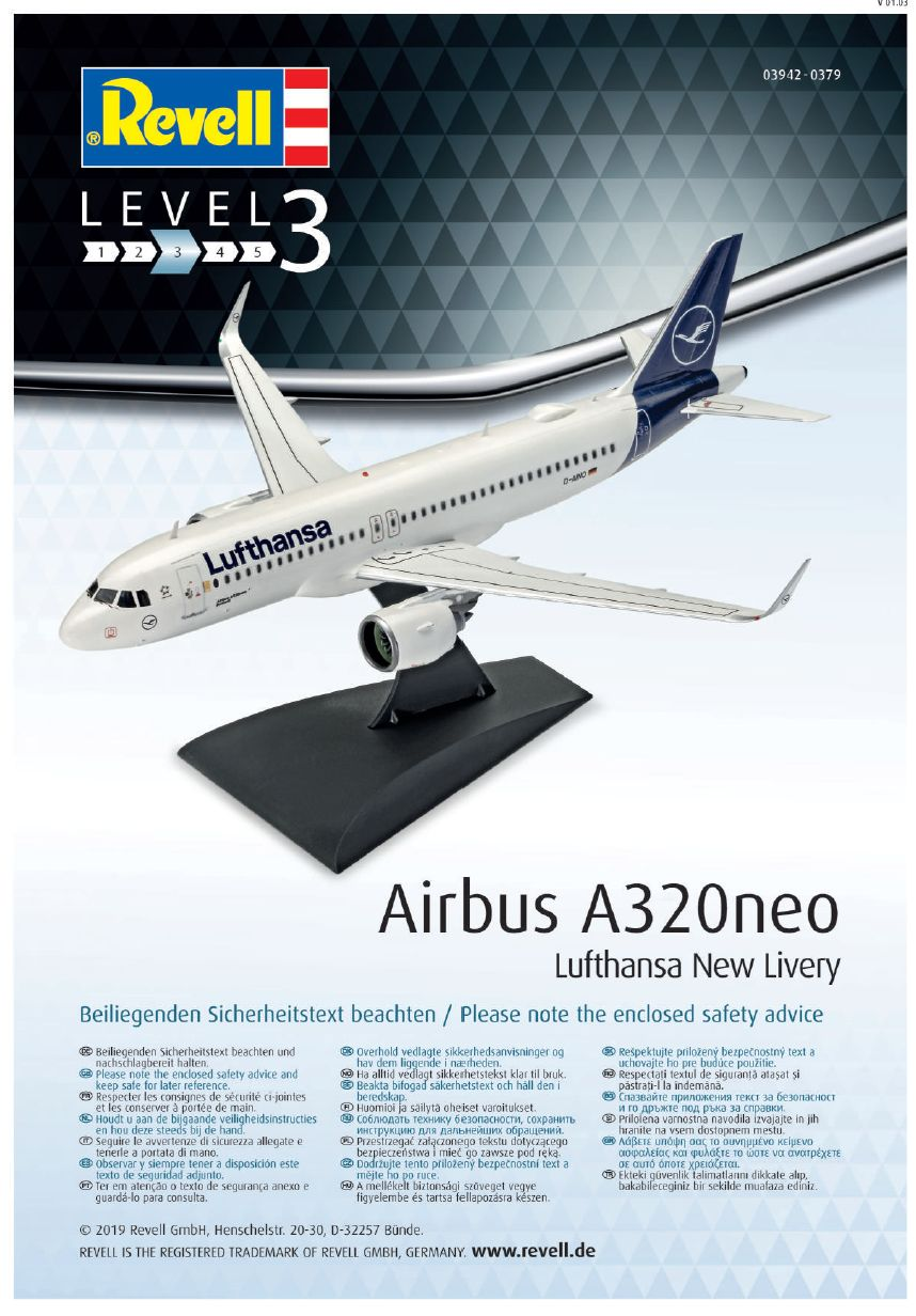 Revell-03942-Airbus-A320Neo-Bauanleitung10 Airbus A320Neo in 1:144 von Revell # 03942