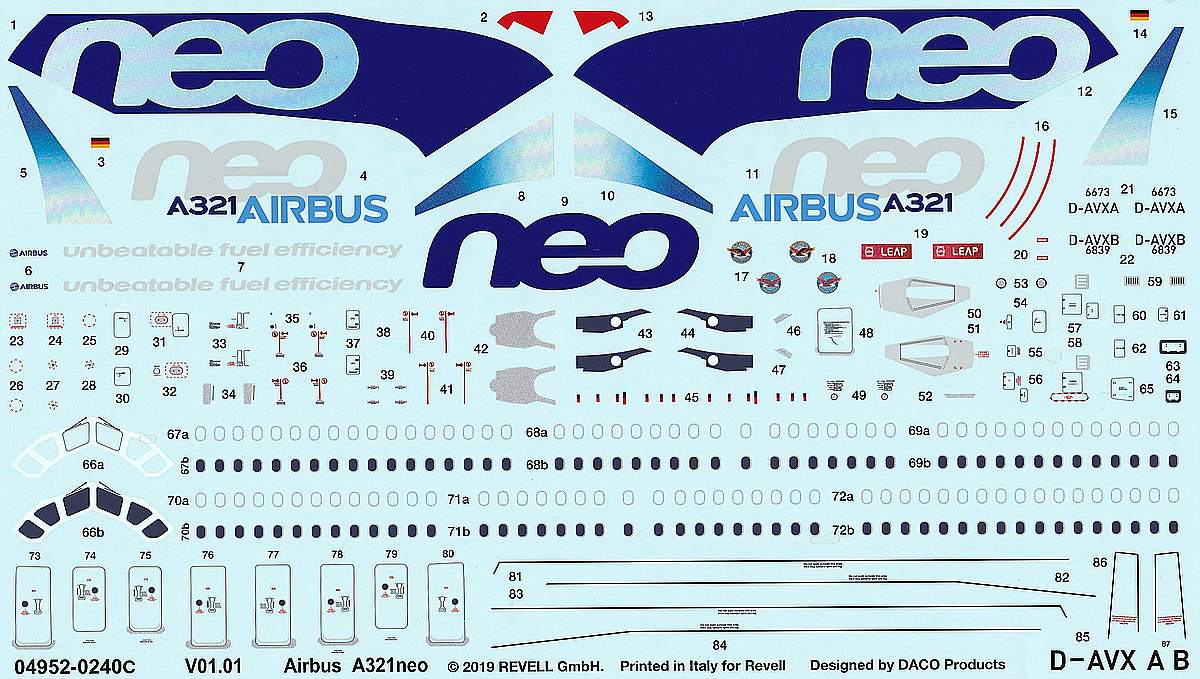 Revell-04952-Airbus-A321Neo-1 Airbus A321Neo in 1:144 von Revell # 04952