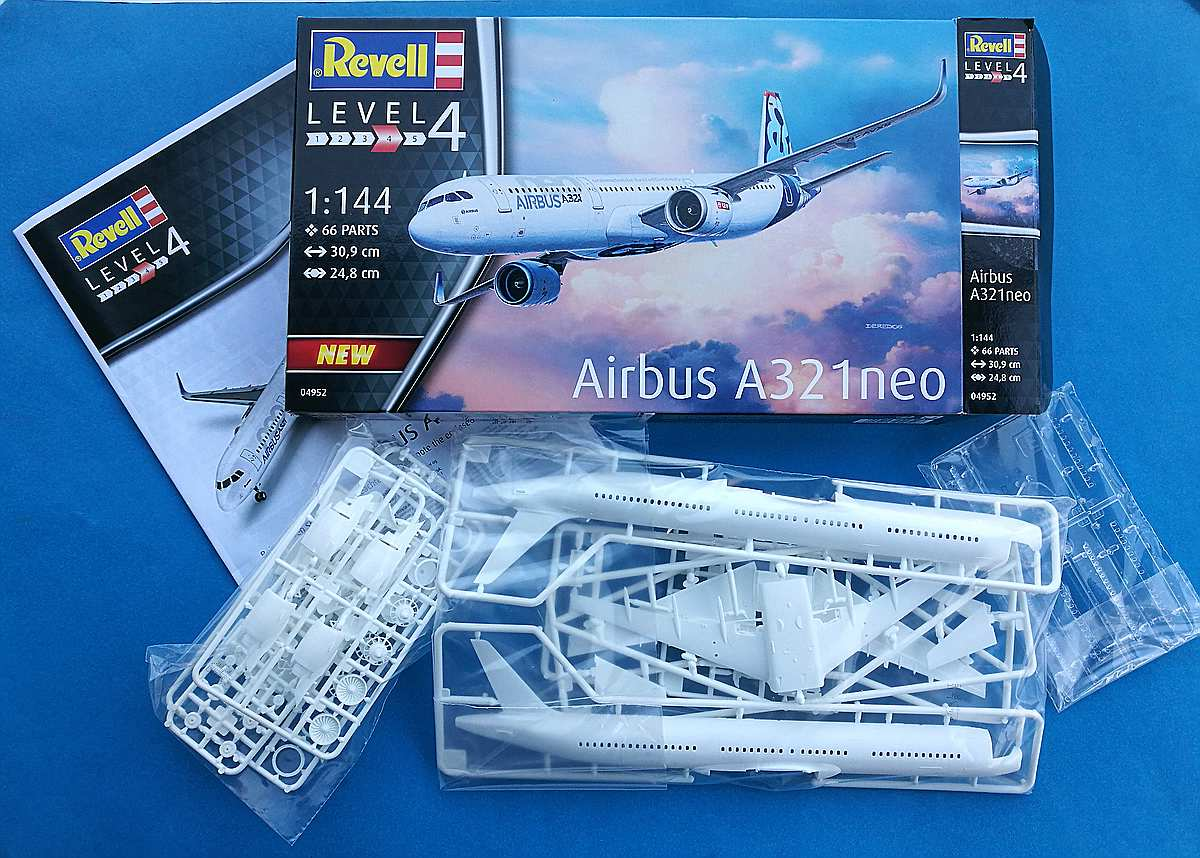 Revell-04952-Airbus-A321Neo-2 Airbus A321Neo in 1:144 von Revell # 04952