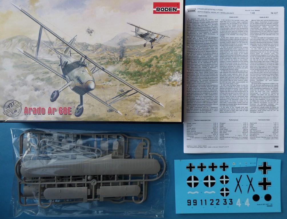 Roden-427-Arado-Ar-68E-2 Arado Ar 68 E in 1:48 von Roden # 427
