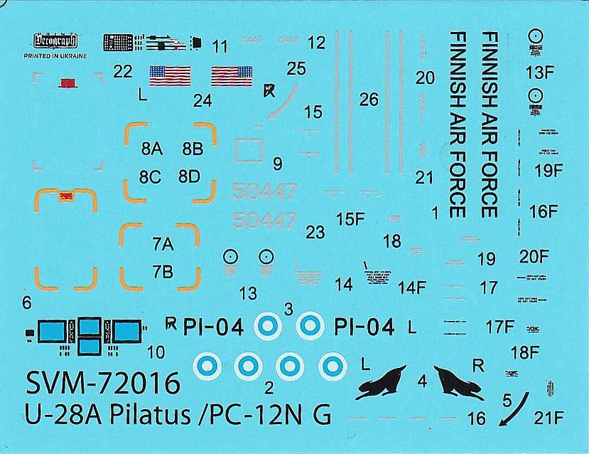 Sova-M-SVM-72016-Pilatus-U-28A-2 Pilatus U-28A in 1:72 von Sova-M #SVM 72016