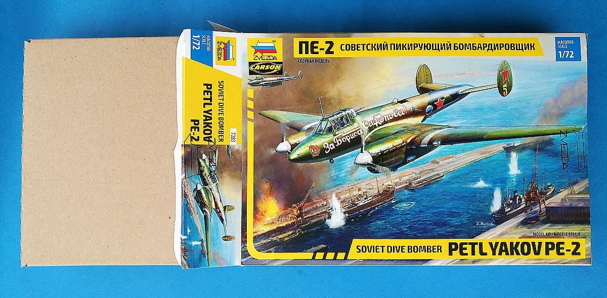 Zvezda-7283-Pe-2-Box-2 Petljakow Pe-2 in 1:72 von Zvezda #7283