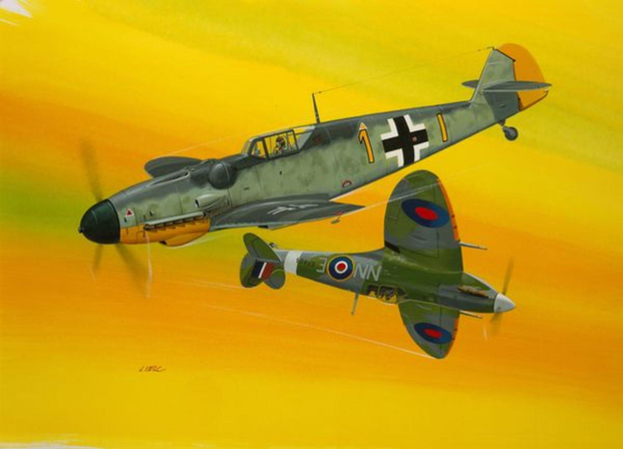 03710-Combat-Set-Bf109G-10-Spitfire-Mk.V Revell-Neuheiten 2020