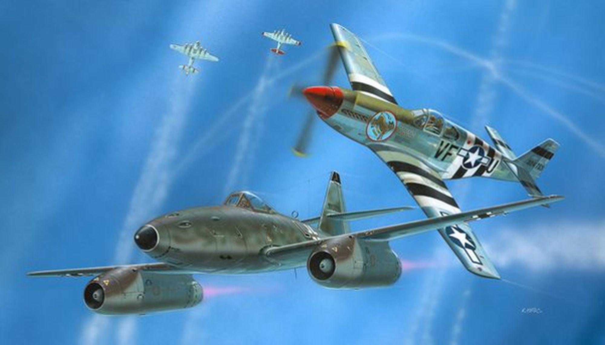 03711-Combat-Set-Me262-P-51B Revell-Neuheiten 2020
