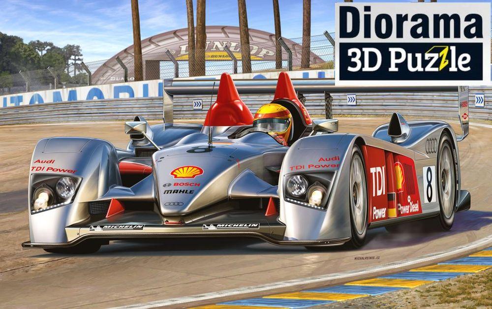 05682-Gift-Set-Audi-R10-TDI-Le-Mans-3D-Puzzle-LeMans-Racetrack Revell-Neuheiten 2020