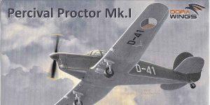Percival Proctor Mk. I in Czech service in 1:72 von Dora Wings # DW 72003