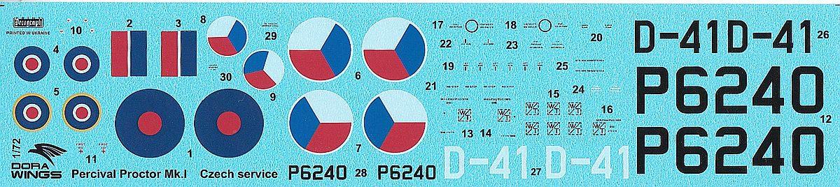 DoraWings-DW-72003-Percival-Proctor-Mk.-I-in-Czech-service-10 Percival Proctor Mk. I in Czech service in 1:72 von Dora Wings # DW 72003