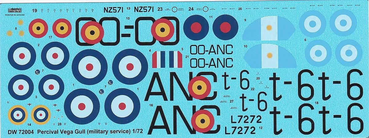 DoraWings-DW-72004-Percival-Vega-Gull-6 Percival Vega Gull in Military Service in 1:72 von DoraWings #DW 72007