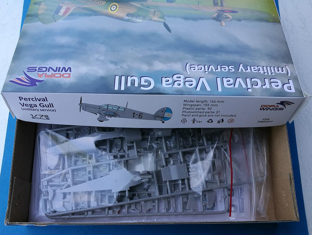 DoraWings-DW-72004-Percival-Vega-Gull-9 Percival Vega Gull in Military Service in 1:72 von DoraWings #DW 72007