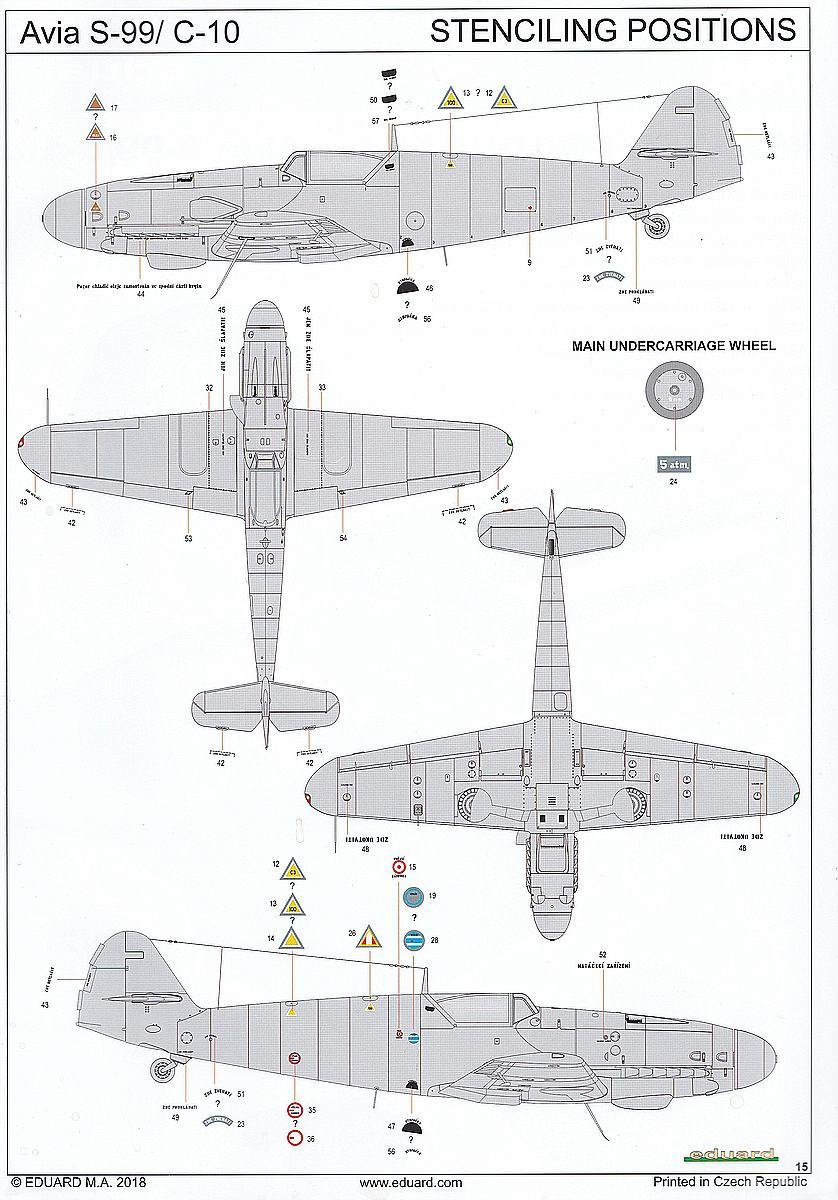 Eduard-11122-Avia-S-99-6 Avia S-99 / C-10 in 1:48 von Eduard #11122