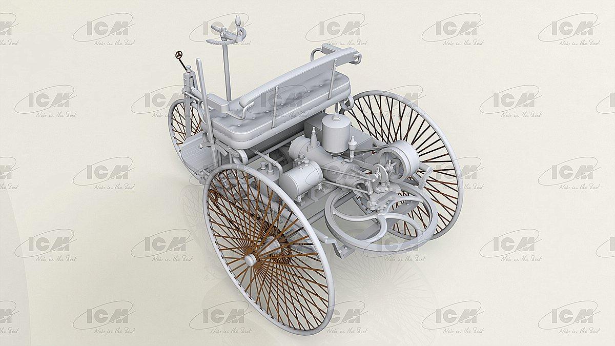 ICM-24040-Benz-Patent-Motorwagen-Preview-2 Benz Patent Motorwagen in 1:24 von ICM #24040