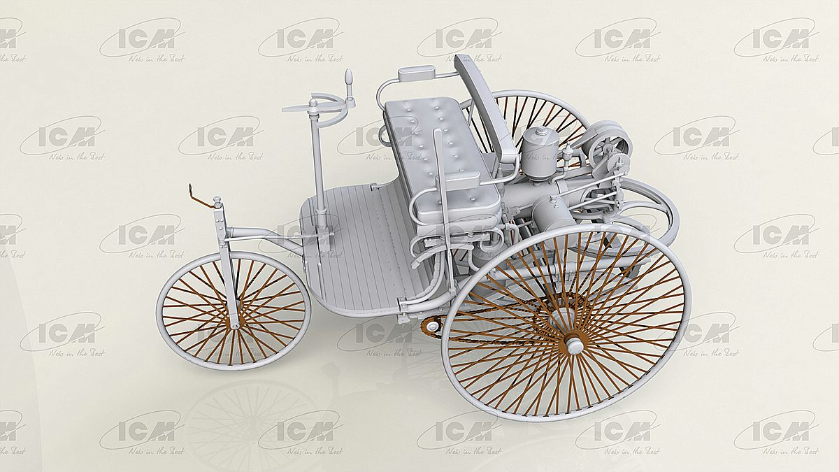 ICM-24040-Benz-Patent-Motorwagen-Preview-3 Benz Patent Motorwagen in 1:24 von ICM #24040