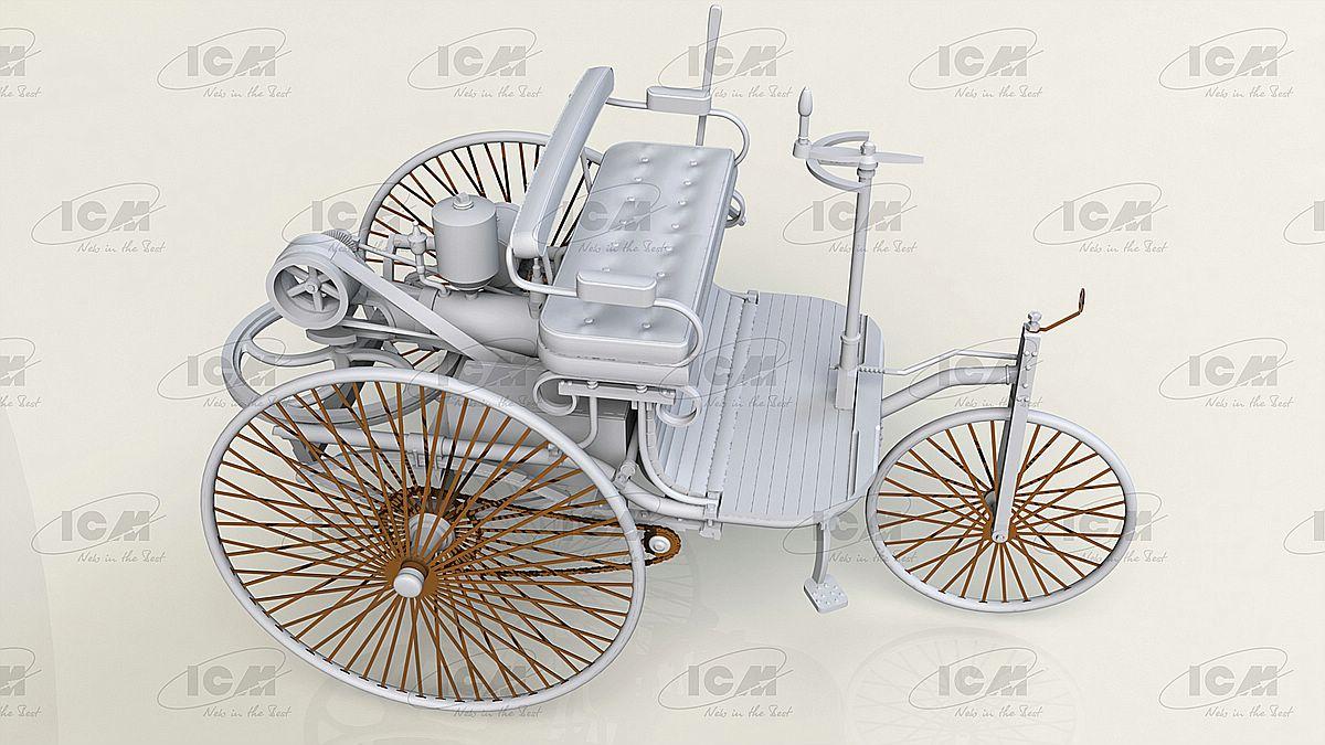 ICM-24040-Benz-Patent-Motorwagen-Preview-5 Benz Patent Motorwagen in 1:24 von ICM #24040
