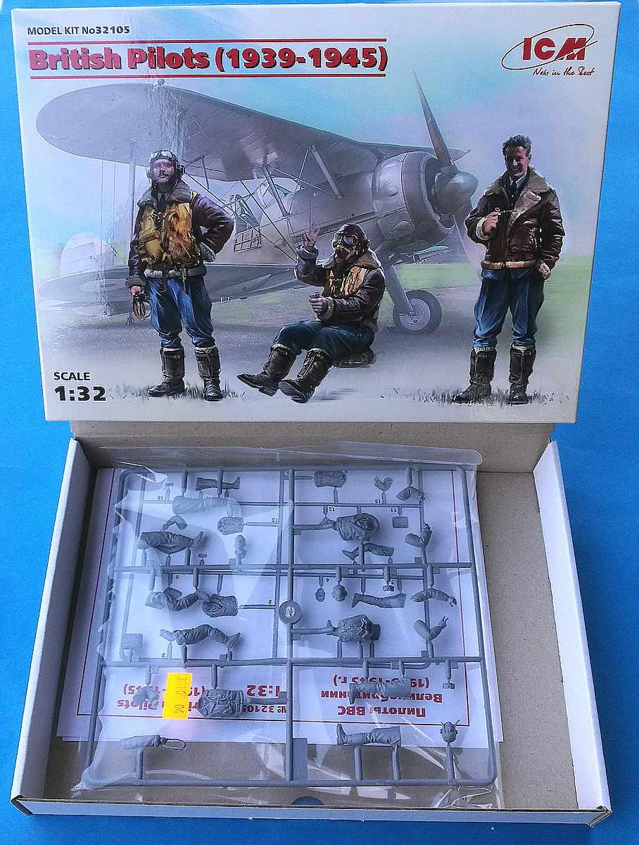ICM-32105-British-Pilots-1939-1945-4 British Pilots (1939-1945) in 1:32 von ICM #32105