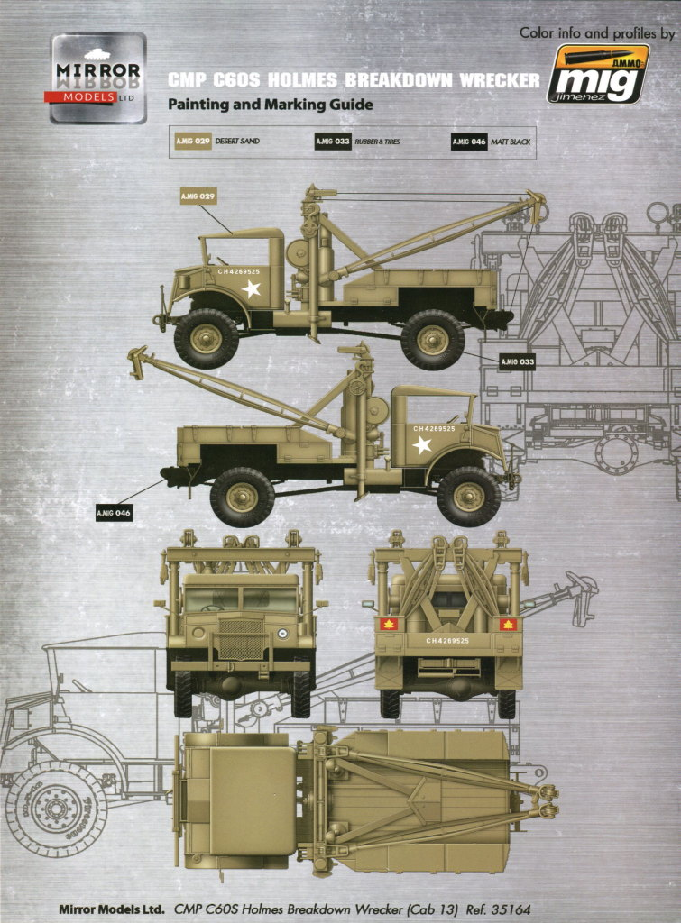 Review_Mirror_C60S_Wrecker_72 CMP C60S Holmes Breakdown Wrecker --- Mirror Models 1/35