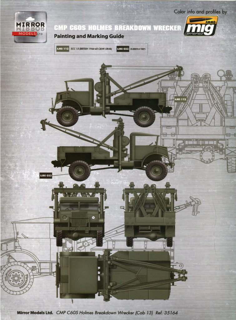 Review_Mirror_C60S_Wrecker_73 CMP C60S Holmes Breakdown Wrecker --- Mirror Models 1/35