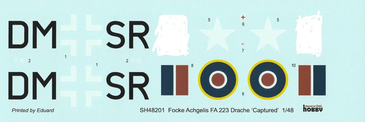 "Special-Hobby-SH-48201-FA-223-Drache-10 Focke Achgelis FA 223 Drache (nicht nur) ""Captured"" von Special Hobby in 1:48"