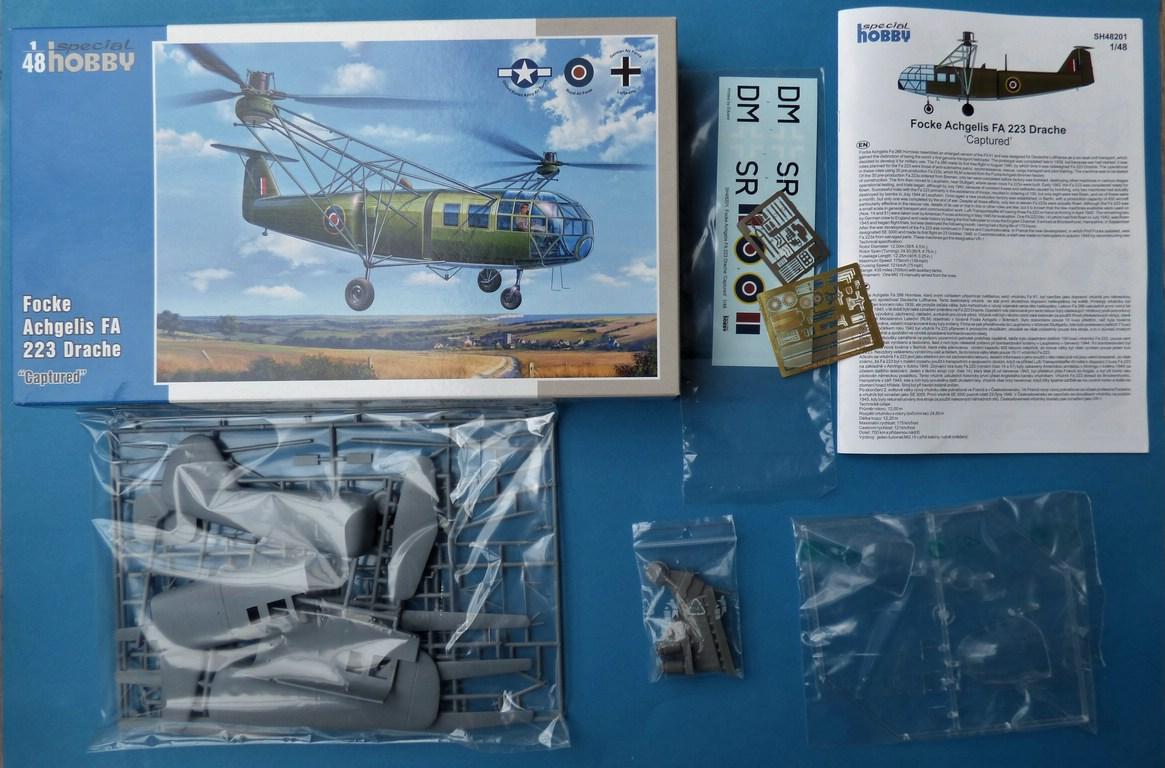 "Special-Hobby-SH-48201-FA-223-Drache-2 Focke Achgelis FA 223 Drache (nicht nur) ""Captured"" von Special Hobby in 1:48"