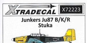 Junkers Ju 87B Stuka in 1:72 von XtraDecal # X72223