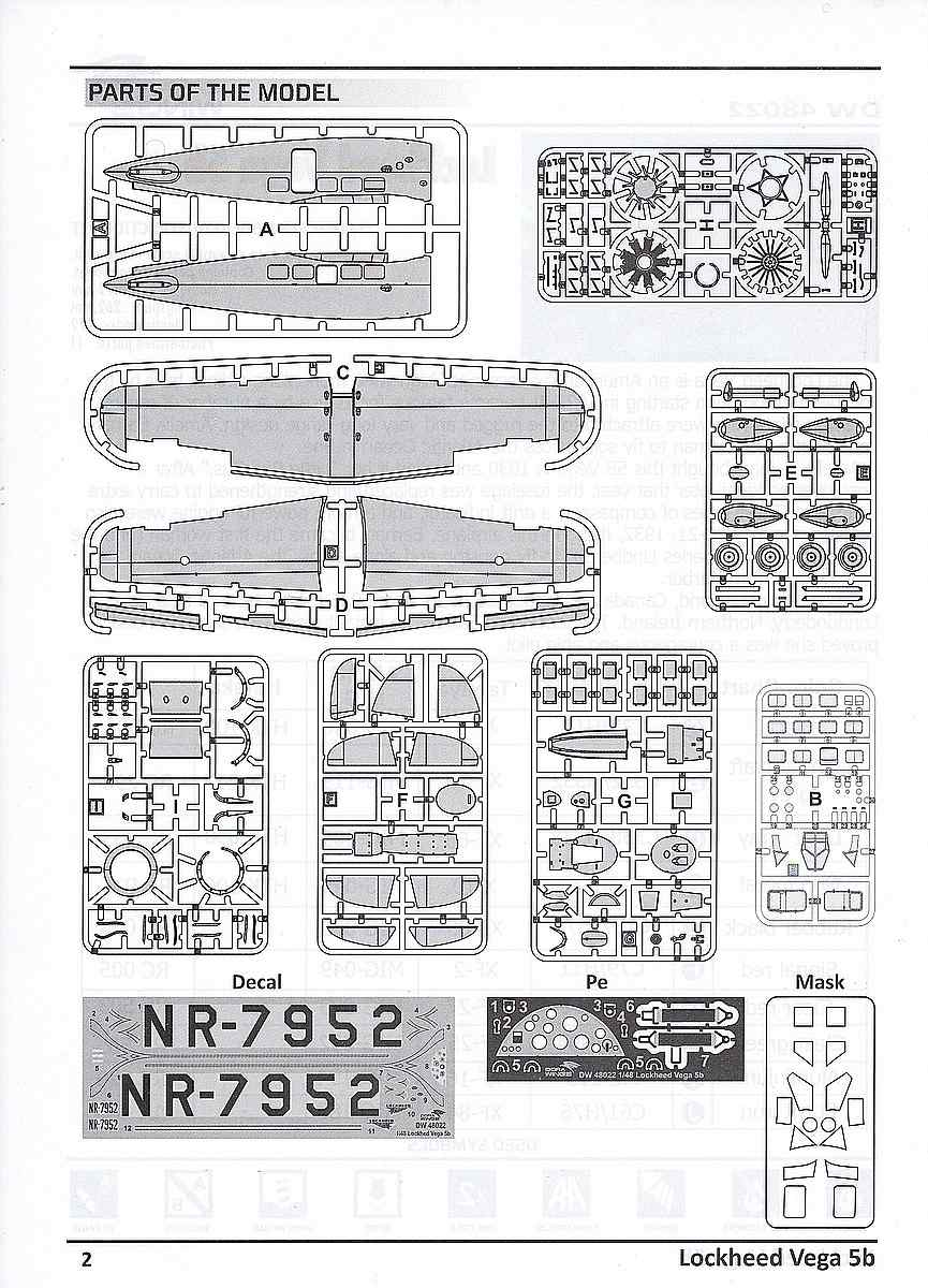 DoraWings-DW-48022-Lockheed-Vega-5b-Bauanleitung2 Lockheed Vega 5b in 1:48 von Dora Wings # DW 48022