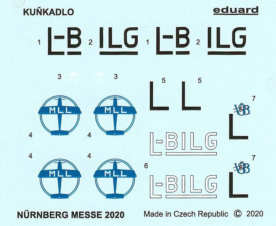 """Eduard-Kunkadlo-3 Leichtflugzeug """"Kuňkadlo"""" in 1:72 von Eduard"""