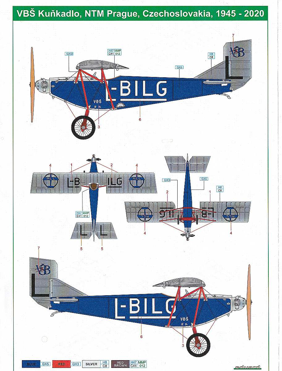 """Eduard-Kunkadlo-4 Leichtflugzeug """"Kuňkadlo"""" in 1:72 von Eduard"""